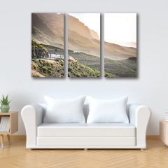 Gran Canaria Cycling Landscape Photography 3 Panel Canvas