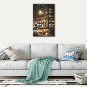 Rain Storm in New York City Photography Canvas