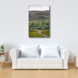 Cyclists Peak District Landscape Photography Canvas