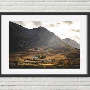 Glencoe Mountain Print
